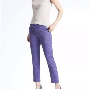 Banana Republic Purple Wool Cropped Avery  Pants 0